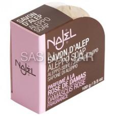 Mydło z Aleppo 12% o zapachu Róży Damasceńskiej 100g